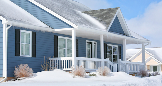 weather resistant paint shown on an ottawa home in the winter time