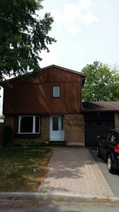 siding painted brown on an ottawa home