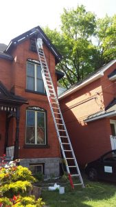 enviro painting team painting the exterior of a house in the glebe in Ottawa