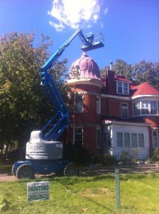 ottawa home having their roof painted