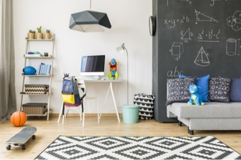 chalkboard paint on walls in home