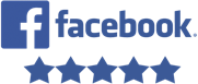 five star facebook review logo