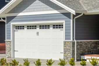 garage door painted white