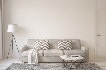 living room painted white