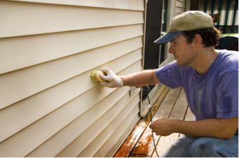 siding being stained